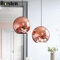 Horsten Nordic Hause Globus Glas Pendelleuchte Silber Gold Kupfer Farbe Esszimmer Wohnzimmer Licht Dekoration Beleuchtung