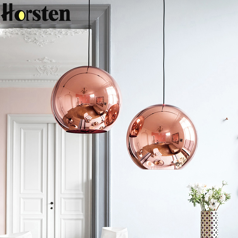 Horsten Nordic Home Globe Glass Pendant Lamp Silver Gold Copper Color - Indoor Lighting