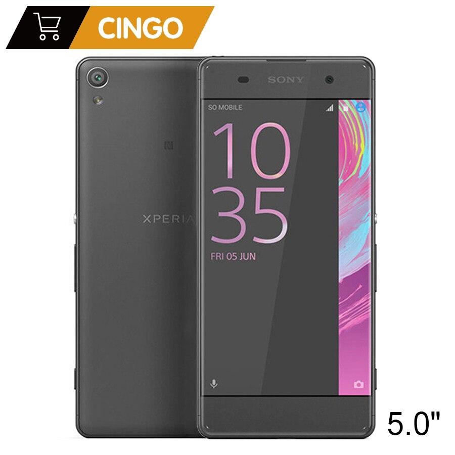 D'origine Sony Xperia X F5121 5.0 pouce 3 gb RAM 32 gb ROM Android Hexa-core 23MP Caméra 2600 mah Débloqué Sim Simple Téléphone Mobile