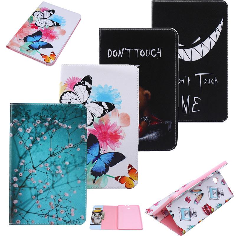 Tablet Case For Samsung Galaxy Tab E T560 T561 9.6 inch Cartoon Animal Giraffe Painting Tablet Book Cover Stand Leather Cover