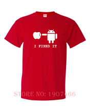 FIXED IT FUNNY funny mens t shirt t-shirts Apple Android Geek pc fun