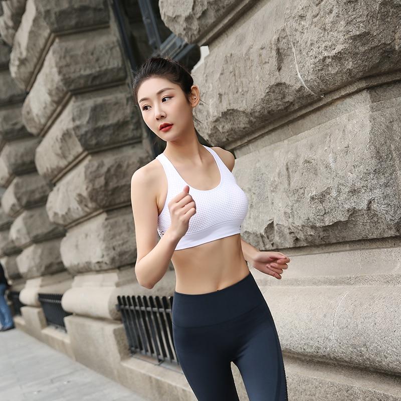 Women Sports Bra Tops High Impact For Fitness Yoga Running Pad Cropped Top SportsWear Tank Yoga Tops Sports Push Up Bra Women