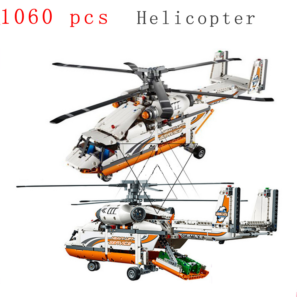 ФОТО 2016 new technology series mechanical group high load helicopter blocks Compatible With gift for Boy assembling toys