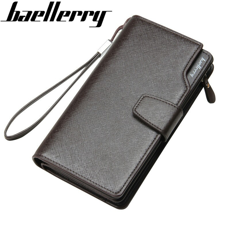 New Business Luxury Men Long Wallet Coin Purse Male Money Phone Pocket Wristlet Pochette Clutch Card Holder Passport Case Cover wristlet