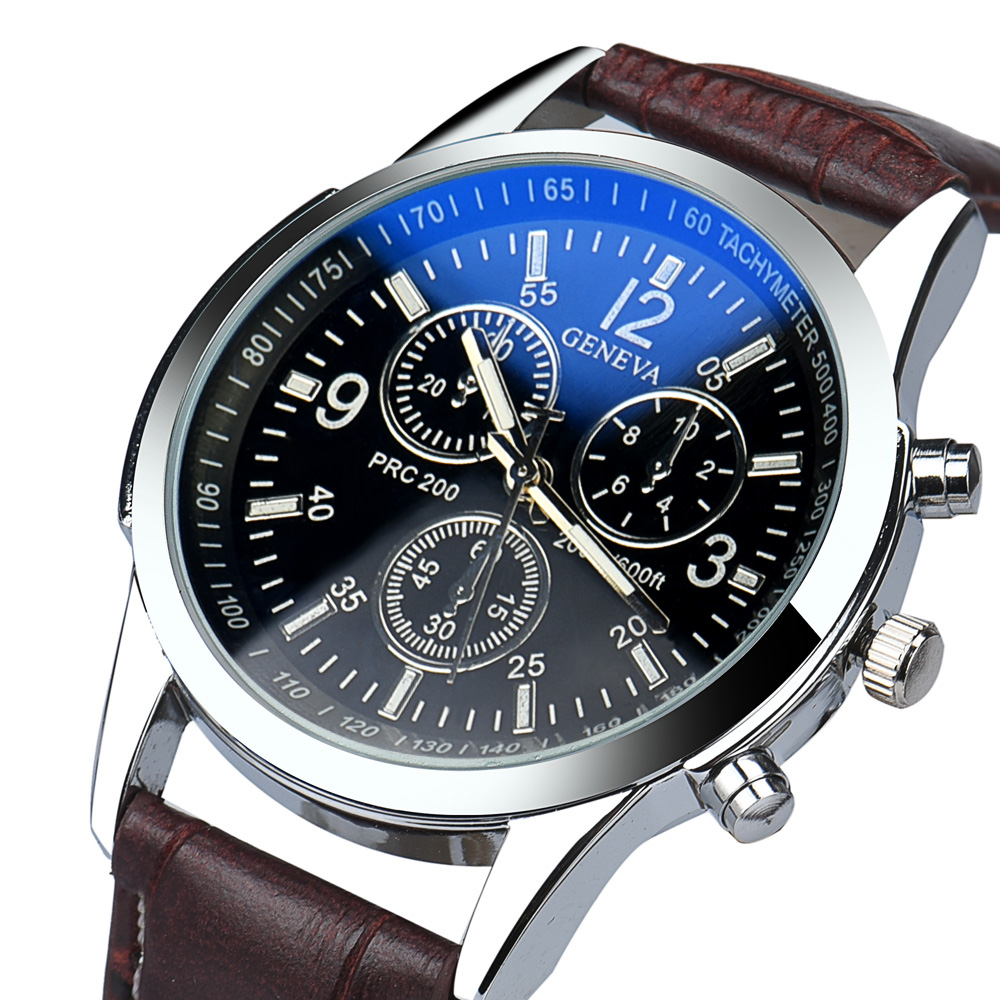 Fantastic simple stylish Top Luxury brand Watches men Stainless Faux Leather strap band Quartz-watch thin Dial Clock man SE 09