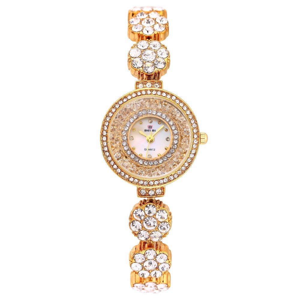 Zegarek marki BELBI Zegarek kwarcowy Ladies Gold Silver Fashion - Zegarki damskie - Zdjęcie 2