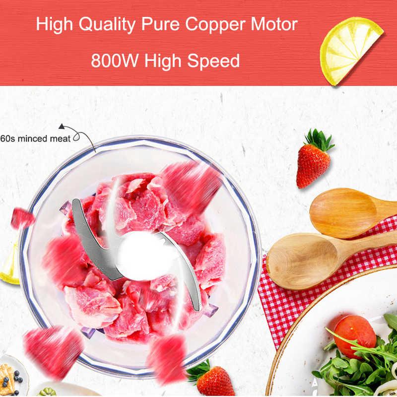 Multifuncional 800 w mão misturador liquidificador batedor de ovo misturador lento juicer moedor carne processador alimentos