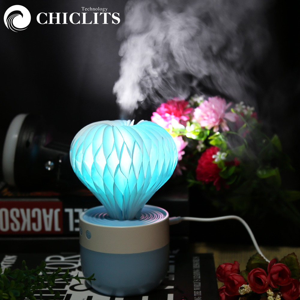 Chiclits светодиодный ночник увлажнитель красочные опунции мини Воздухоочистители распылитель для автомобиля гостиная стол Декор вечерние по…