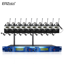 EM2050 Skilled 10 receivers in stage monitor sound programs ear system Transmitter Units ERZHEN