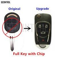 QCONTROL Upgraded Car Remote Key DIY For Chevrolet Lacetti Optra Nubira Vehicle Flip Pocket Alarm 2005