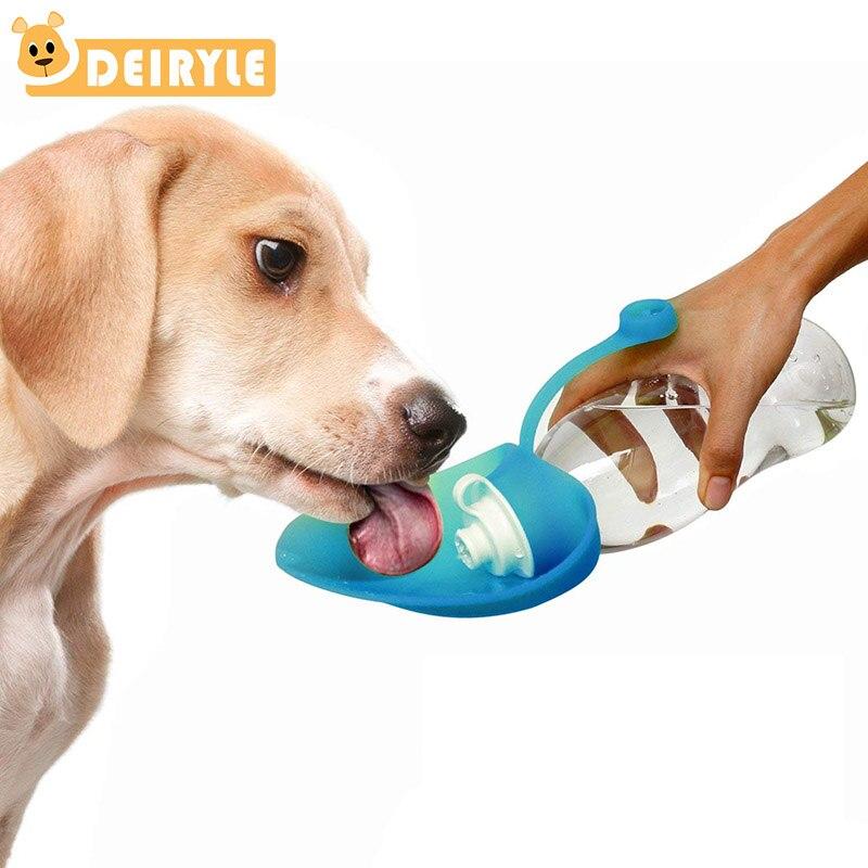 Foldable Plastic Dog Cat Drinking Water Feeder Outdoor: Foldable Dog Water Bottle Leaf Shape Folding Water Feeder