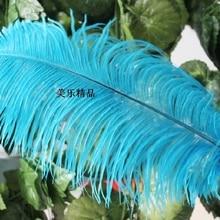 40-45 см 16-18 дюймов бирюзовые синие страусиные перья оперение страуса Свадебные украшения 10 шт./лот