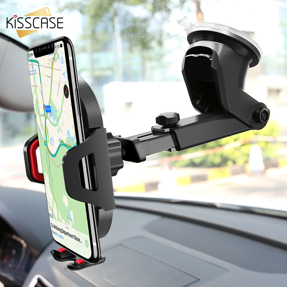 KISSCASE Windshield Gravity Sucker Car Phone Holder For iPhone X Holder For Phone In Car Mobile Support Smartphone Voiture Stand Лобовое стекло