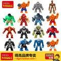 Single Decool Large Block  super cool  Hulk Buster Venom Iron Man Building Blocks Toys gifts