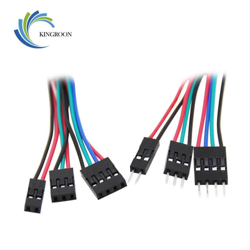 5pcs 2pin 3pin 4pin Male to Female Dupont Cable 70cm 3D Printers Parts Double-Head Terminal Jumper Wire Part Dual Headed Line F2