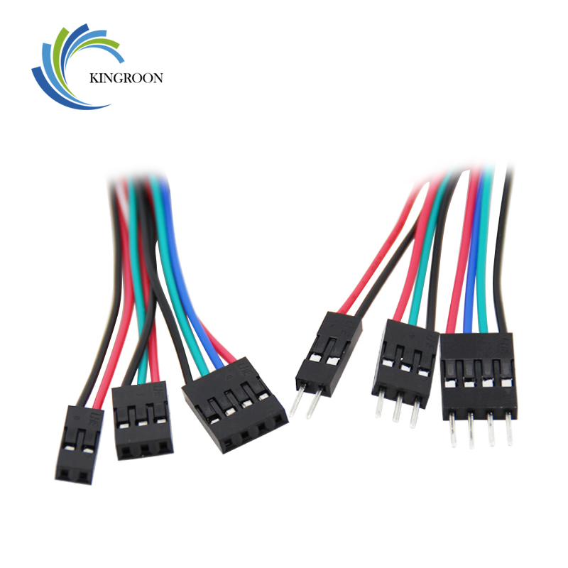 5pcs 2pin 3pin 4pin Male to Female Dupont Cable 70cm 3D Printers Parts Double-Head Terminal Jumper Wire Part Dual Headed Line 50cm 4p double headed dupont line male to male 4pin revolution color connecting line