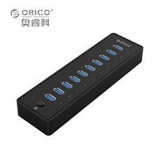 ORICO USB HUB P10-U3 5 Gbps 10 Ports USB3.0 HUB avec VL812 12V4A L'UE/ROYAUME-UNI Adaptateur pour Windows 8/Mac/Ordinateur Portable/Ultrabook