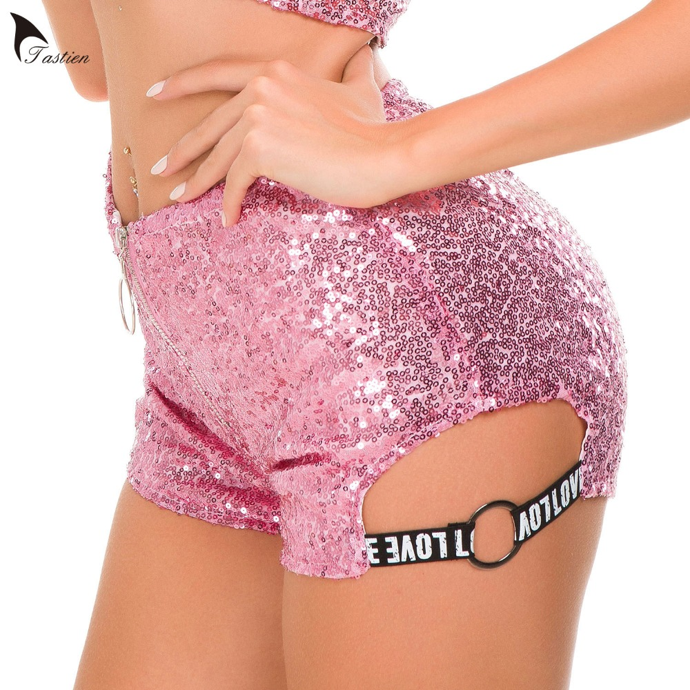 New High Waist Women   Shorts   Sequined Cotton Sexy Super DJ Clubwear   Shorts   Booty Korean Style Mini Super Micro   Shorts     short   mujer
