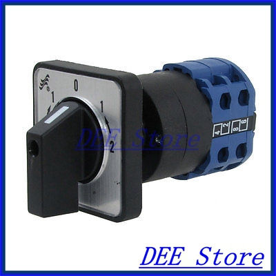 AC 220V-240V 5 Position 8 Screw Terminals Rotary Changeover Switch ith 20a 8 screw terminals rotary combination cam switch