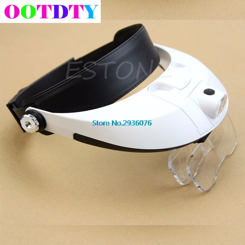 LED Lamp Light Magnifiers Headband Headset Head Jeweler Magnifier Magnifying Glass Loupe headband headset led head light magnifier magnifying glass loupe 5 lens set