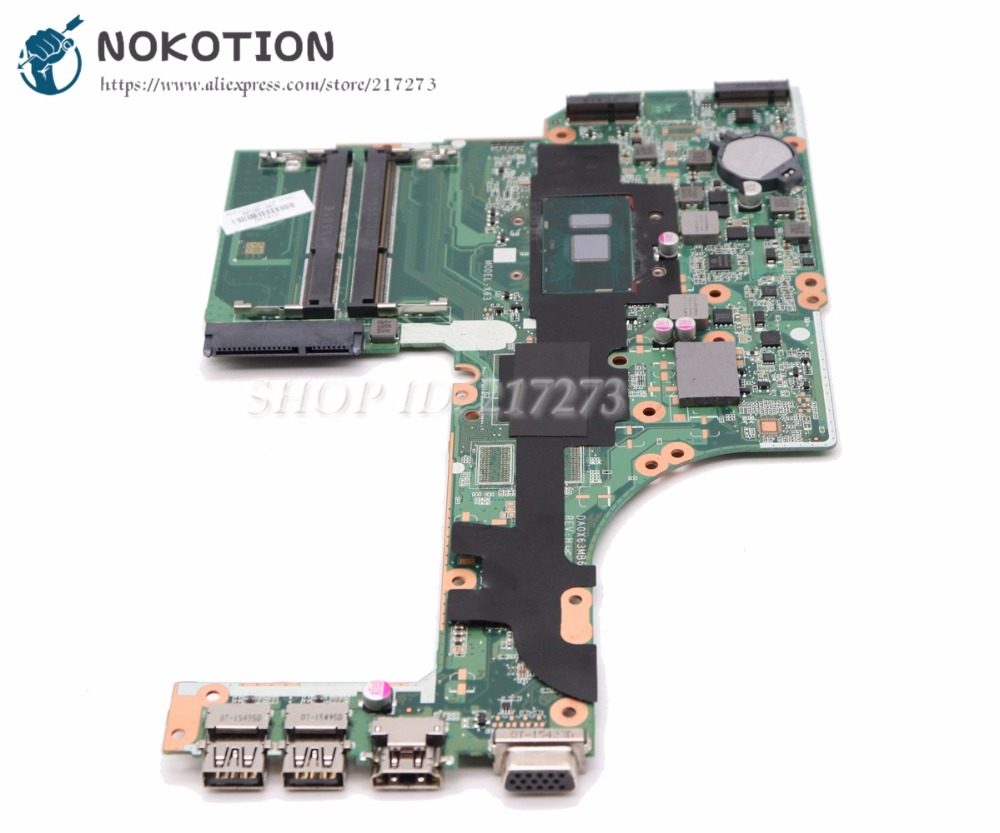 NOKOTION For HP probook <font><b>450</b></font> 470 G3 Maptop Motherboard 830931-601 830931-001 830931-501 DA0X63MB6H1 SR2EY i5-6200U CPU image