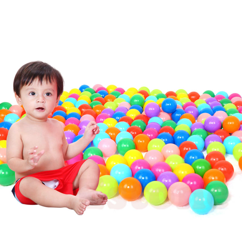 Squishy Baby Ball : 200pcs Eco Friendly Colorful Ball Soft Plastic Ocean Ball Funny Baby Kid Swim Pit Toy Water Pool ...