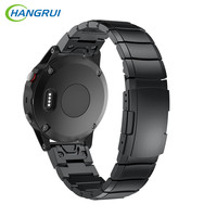 HANGRUI Stainless Steel For Garmin Fenix 5 Forerunner 935 Smart Wrist Watch Band 22MM Replace For