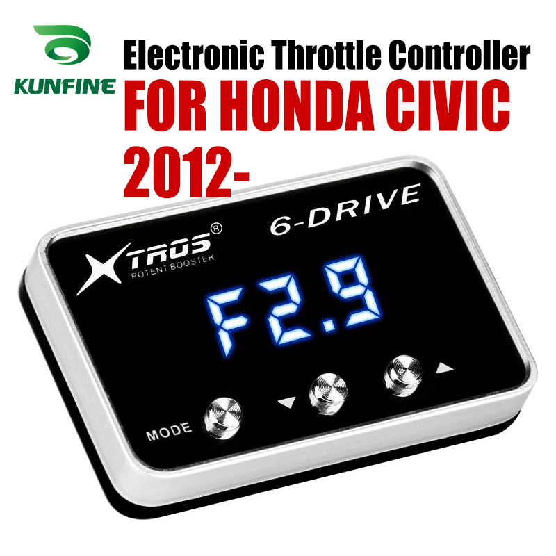 Car Electronic Throttle Controller Racing Accelerator Potent Booster For HONDA CIVIC 2012-2019 ALL ENGINES except 2.4LCar Electronic Throttle Controller Racing Accelerator Potent Booster For HONDA CIVIC 2012-2019 ALL ENGINES except 2.4L