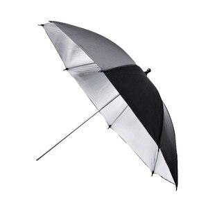 Image 3 - 43 inch/110 cm Fotografia Pro Studio Flash Riflettore Nero Argento Riflettente Ombrello È utile in professionale studio di ripresa