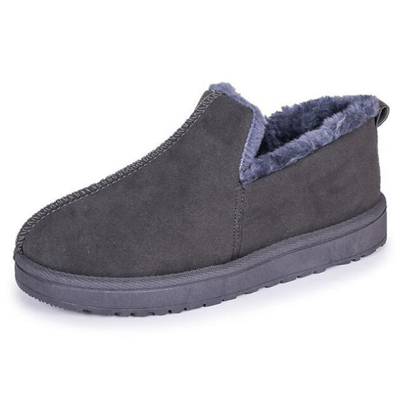 f61df5e85318a0 Cheville Bottes forme Chaussures noir Confort Pantoufles Plate gris Dame  Fond Neige Beige Fourrure Covoyyar Wfs1016 ...