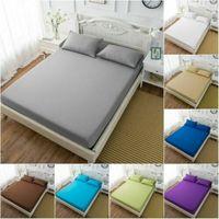 침대 장착 시트 탄성 시트 싱글 트윈 풀 퀸 킹 침대 커버 침대 시트 3 크기|침구 세트|홈 & 가든 -