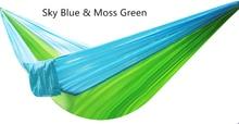 Зеленый Стабильный Карабин Открытый Повесить Кровать Пикник Путешествия Отдых Свинг Гамак Выживания Крытый Спальный Альпинизм 660 фунт