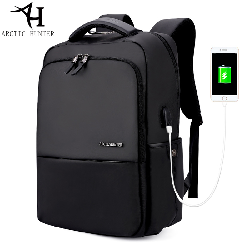ARCTIC HUNTER USB charge Backpacks 15.6 inches Laptop waterproof Back pack Men Large Capacity Casual Bag male Christmas gift arctic hunter 2018 large capacity fashion casual preppy style shoulder bag chest bag waterproof travel bags gift ship from ru