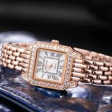 Luxury Jewelry Lady Women's Watch Fine Fashion Square Hours