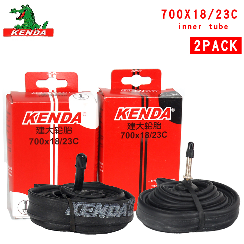 2PCS Kenda Bicycle Inner Tube <font><b>700</b></font>*18 <font><b>23C</b></font> French valve 700C Cycling Mountain Bike Butyl Rubber Tire parts image