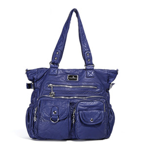 Image 3 - Multi Pocket Luxury Soft PU Leather Shoulder Bags for Women Large Capacity Shopping Crossbody Hobo Bags European Tote Handbag