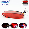 motorcycle accessories ABS plastic motorcycle license plate light red color brake light 3 colors optional motorcycle tail light