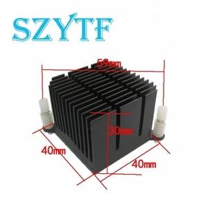 Image 1 - 1 stücke Motherboard chip set kühlkörper 40*40*30mm 59mm aluminium kühlkörper loch abstand north South Bridge kühlkörper