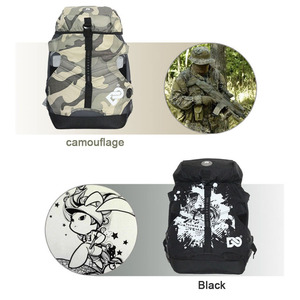 Image 5 - DC 810D Polyester Fabric Inline Speed / Slalom Roller Skates Backpack Travel Camping Camouflage Multi function Skating Bags BB2