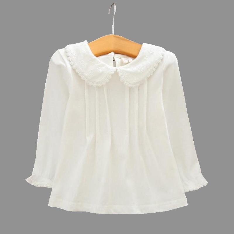 Girls Blouse White Shirts Cotton Lace Shirt 2018 Autumn Long Sleeve Turn  down Collar Child Kids Baby Toddler Tops 6 8 10 12 Year|Blouses & Shirts| -  AliExpress