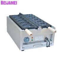 BEIJAMEI Factory price 110v 220v automatic fish shape Taiyaki cake machine Commercial Electric Taiyaki Waffle Making Machine