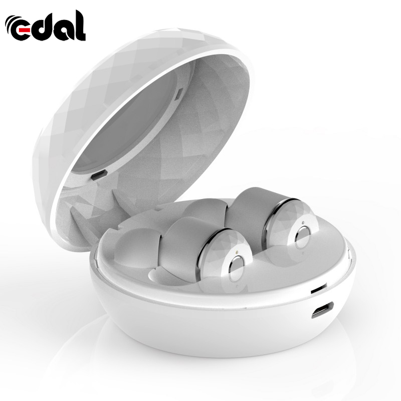 EDAL 3.7V Portable Wireless Bluetooth 4.2 True Wireless Hi-Fi Stereo Earphone Sport Earphones With Mic Frequency 20Hz-20KHz гарнитура hi fun hi earphones v pink