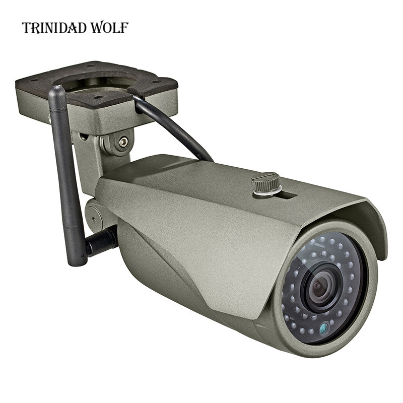 TRINIDAD WOLF Outdoor waterproof 1080p WiFi IP camera night vision CCTV camera night vision surveillance camera home security trinidad wolf solar fake camera security