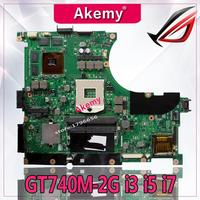 Akemy N56VB/N56VM Laptop motherboard for ASUS N56VB N56VM N56VJ N56V N56VV Test original mainboard GT740M 2G Support i3 i5 i7