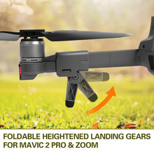 лучшая цена Foldable Heightened Landing Gears Skids Stabilizers for DJI MAVIC 2 PRO & ZOOM Drone Accessory