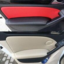 For VW Golf 6 2010 2011 2012 2013 4pcs Car Door Armrest Panel Microfiber Leather Protection Cover Trim стоимость