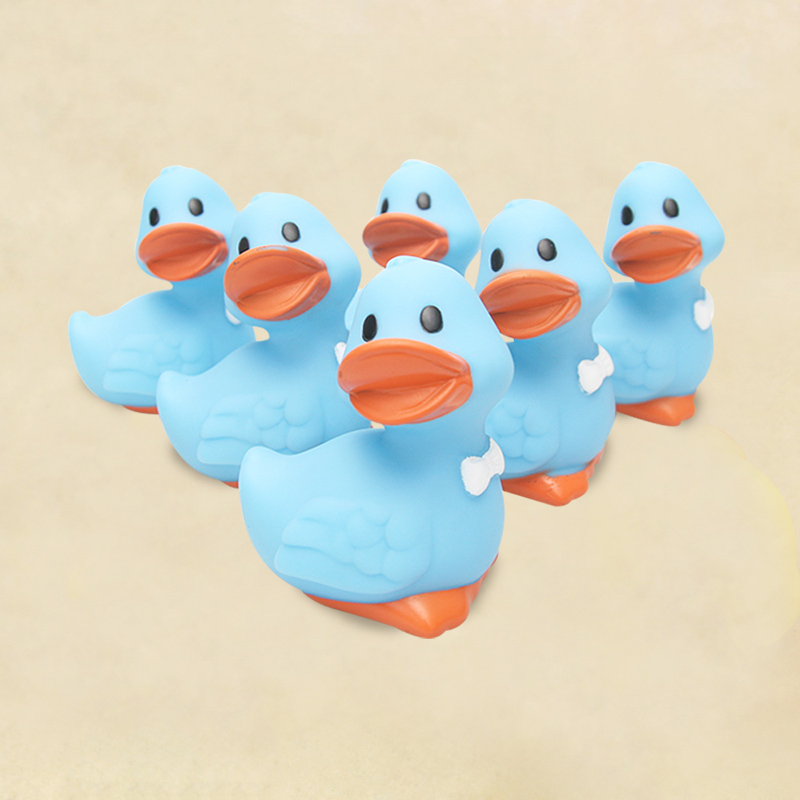 Rubber Duck Toy Blue Styling Taro Duck Baby Bathing Bathroom Bathing Floating Water Accompanying Toys Kids Gifts