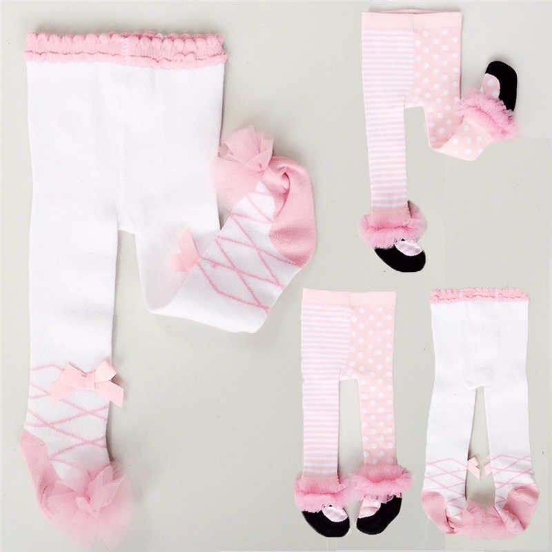 New Baby Girl Tights Soft Girls Stockings Children Spring Autumn Tights Cotton Baby Girl Pantyhose Knitted Tight Newborn Clothes