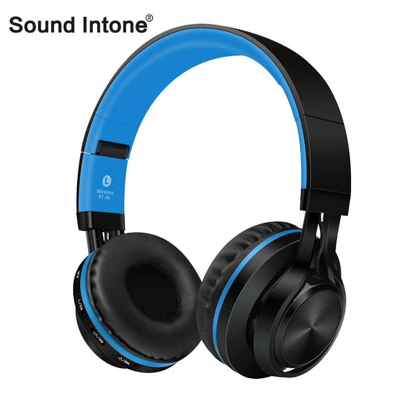 ФОТО Sound Intone BT-06 Wireless Bluetooth Headsets Foldable Stereo with Mic Support TF Card Bluetooth Headphones for phones pc mp3