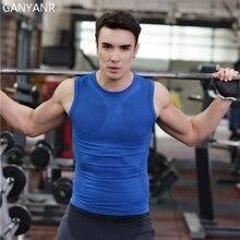 GANYANR Brand Running Vest Men Sportswear Tank Top Yoga Tee Shirt Fitness Workout Tights Singlet Training Slim Fit Compression